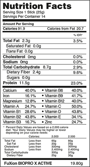 nutritional-facts-biopro-x-active-regular