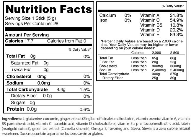fuxion flx t nutritional info