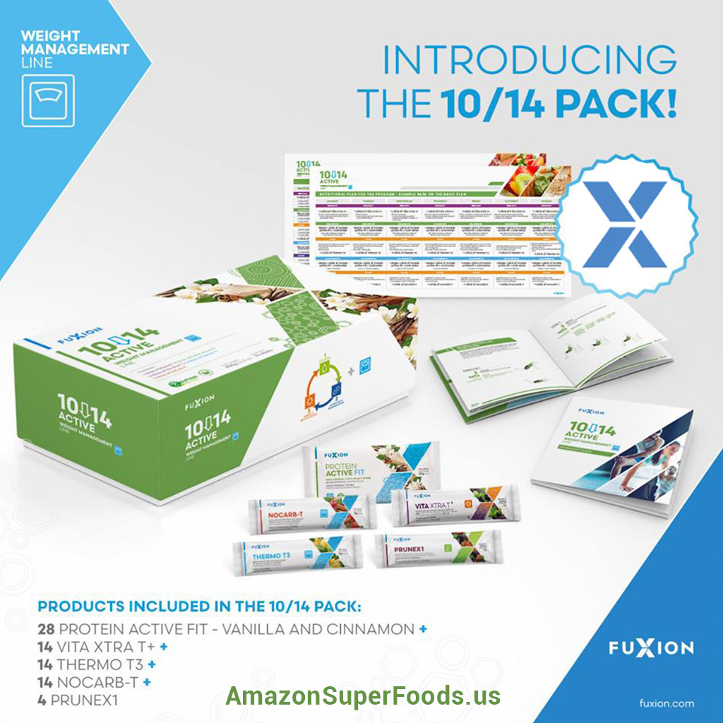 fuxion 10/14 active weight loss pack